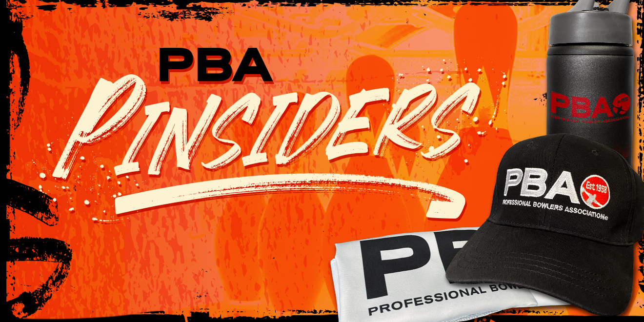 PBA Pinsiders logo with swag