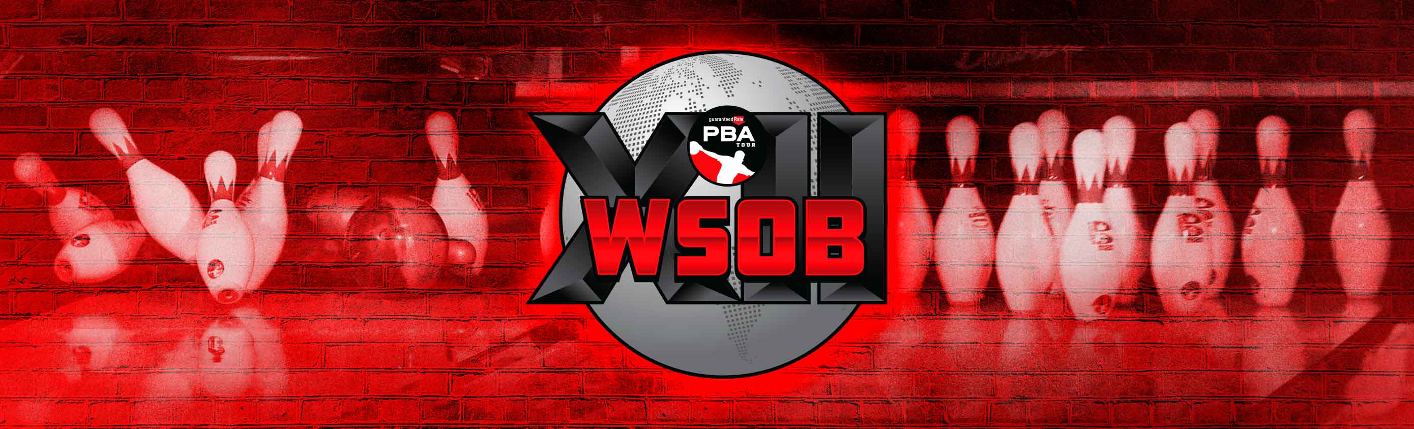 WSOB Logo with bowling pins in the background