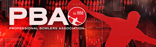 pba logo over red background