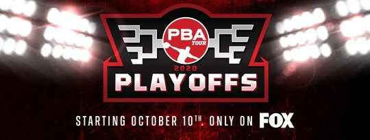 The PBA Playoffs logo with copy that reads starting on October tenth only on Fox